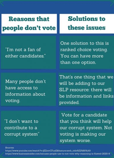 Reasons people don't vote